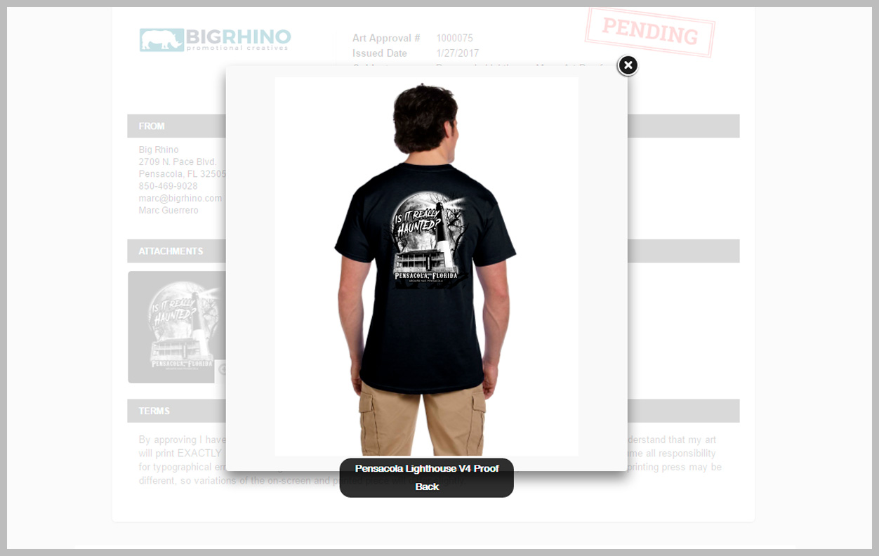 Big Rhino Custom T Shirts Apparel And Promotions Screen